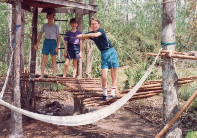 One of the first treehouses we built.