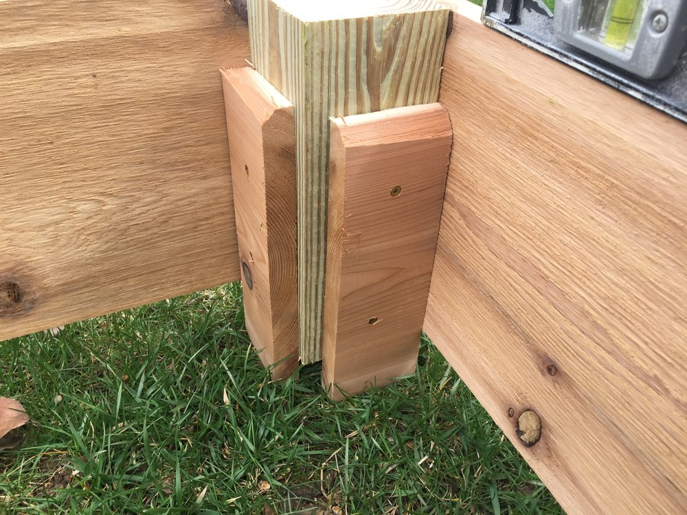Delicieux Post For A Cedar Garden Box