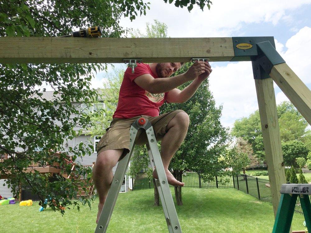 I am installing the swing hardware