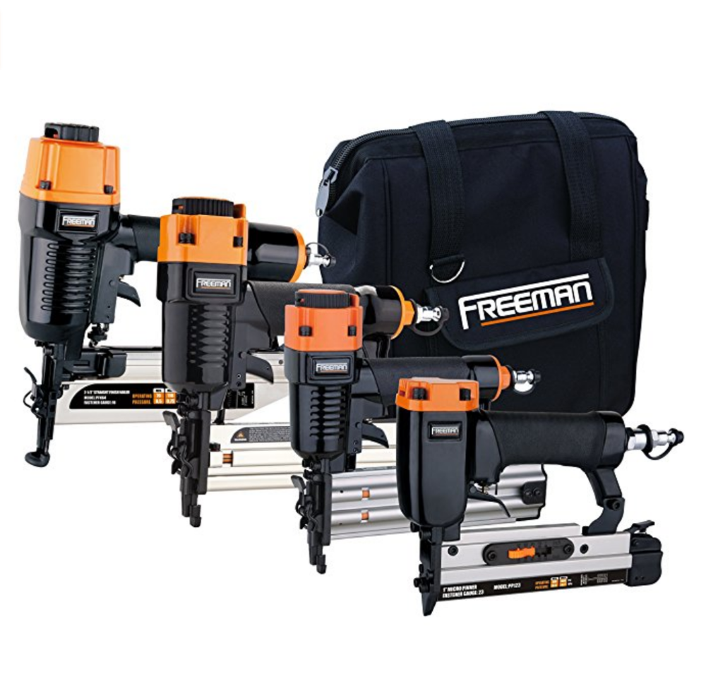 Freeman Pneumatics P4FNCB Nailer Combo Kit with Bag