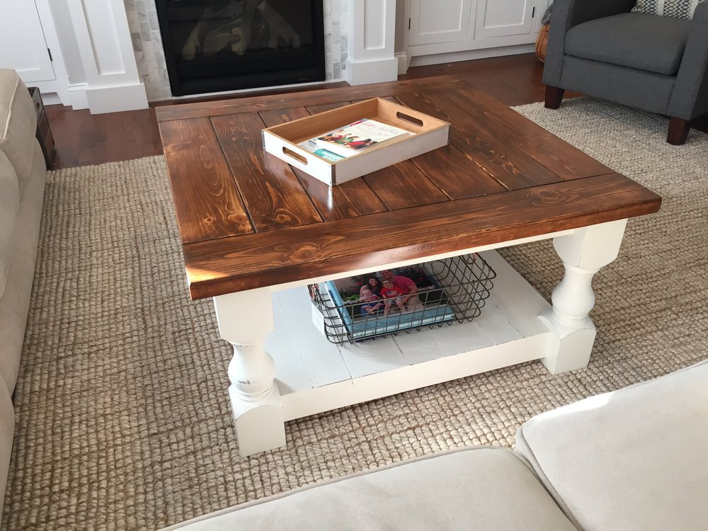 Farmhouse Coffee Table in My Living Room