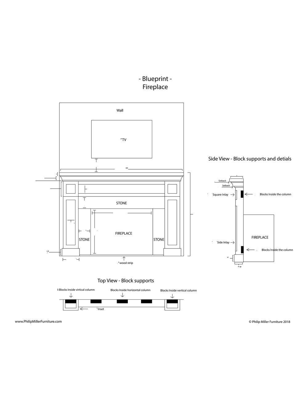 Build Instructions   - Shaker Fireplace Mantel, Cabinets & Shelves    - $20