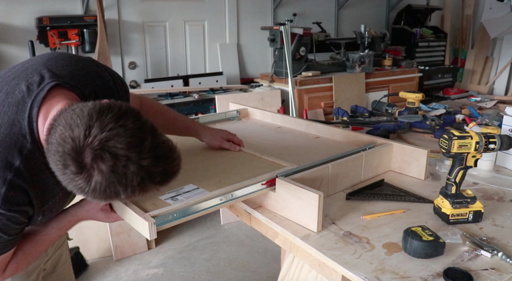 Installing the drawer slide for the Lego table - Philip Miller Furniture - Etsy