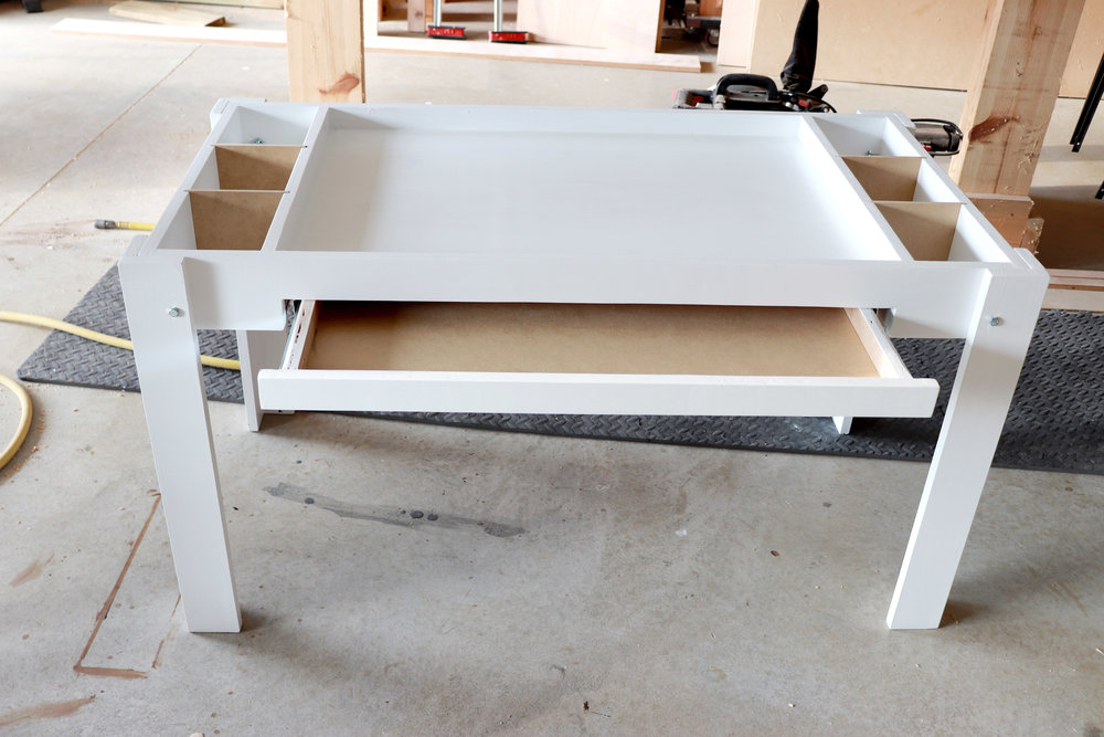 Lego Table With Tray Divider - Woodworking - Philip Miller Furniture - Etsy