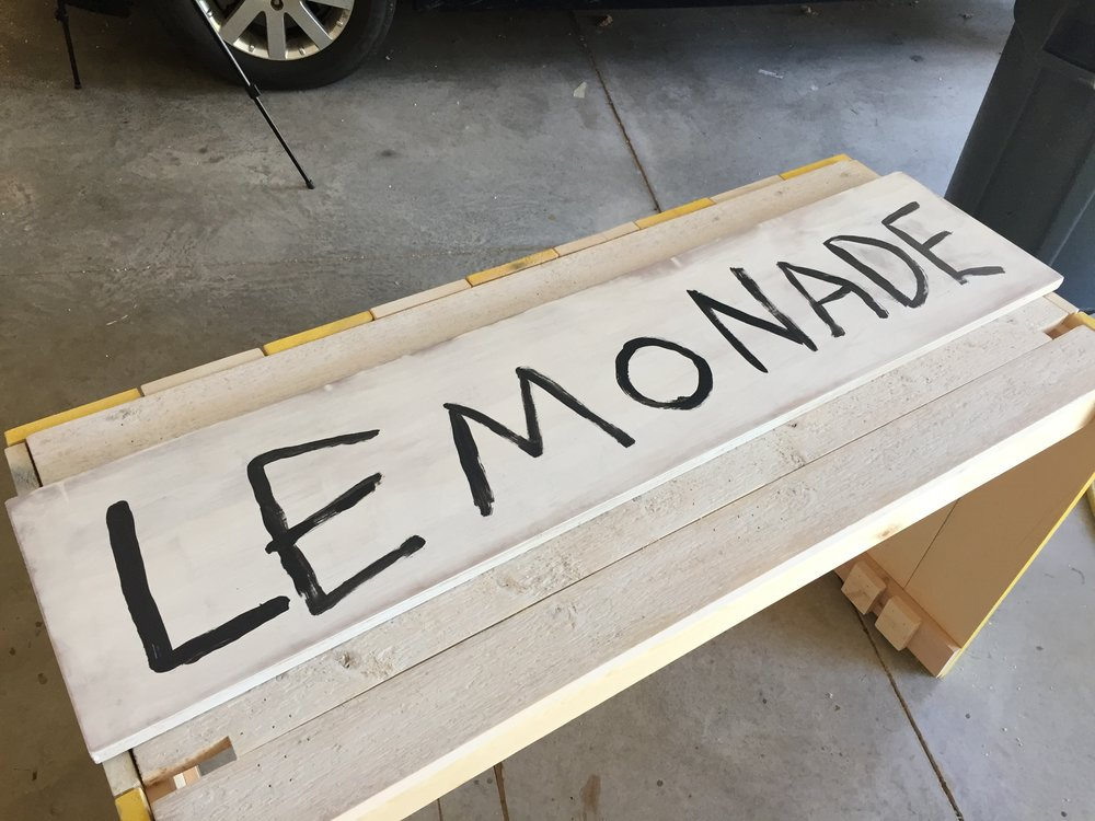 Hand drawn lemonade sign
