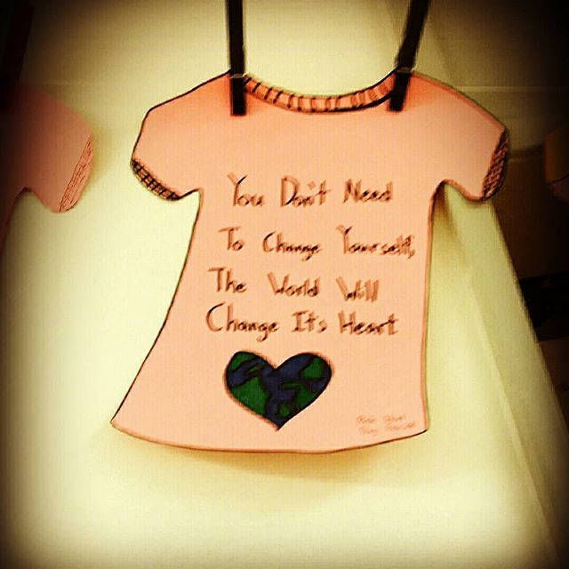 You don't need to change yourself - the world will change it's heart. #kids#inspiration#throwback#pinkshirtday