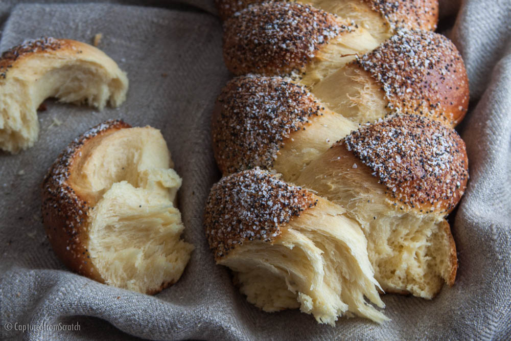 Poppyseed & Garlic Challah Bread