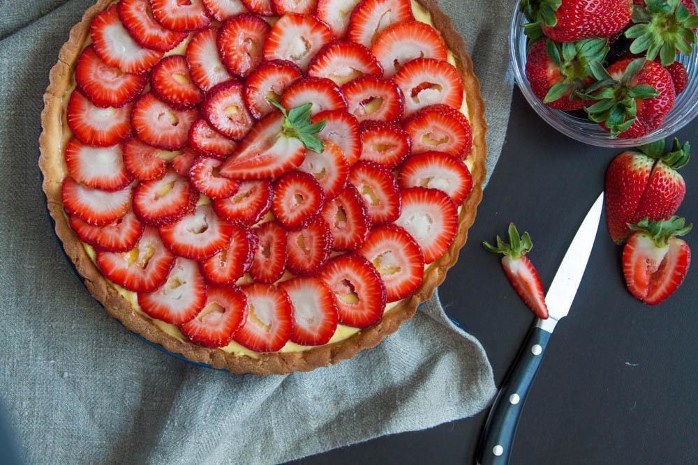 Strawberries & Crème Pâtissière Tart