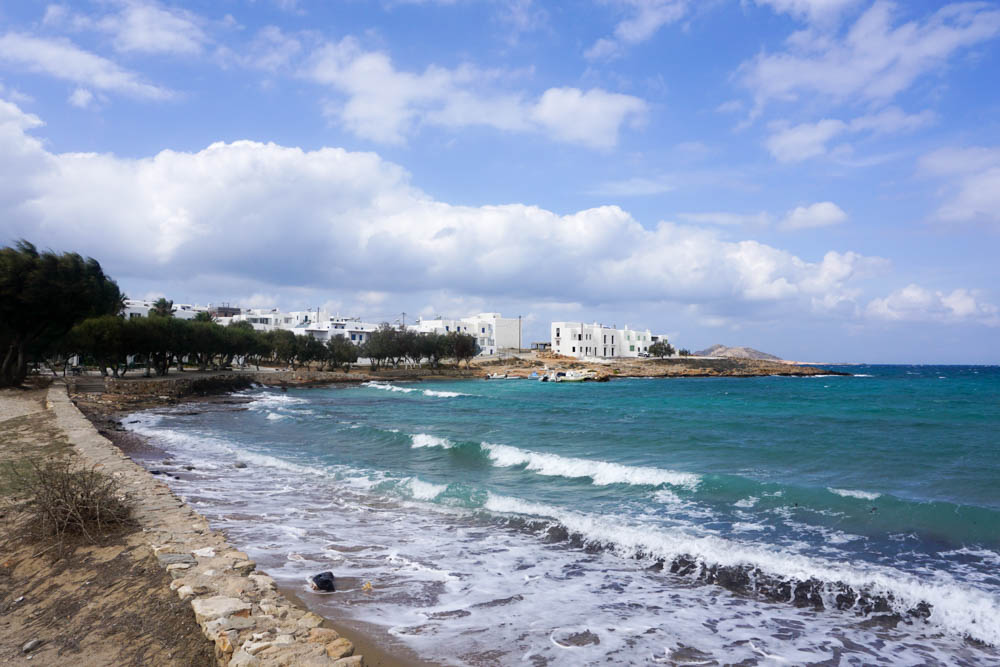 On the road from Naoussa to Santa Maria Beach, Paros