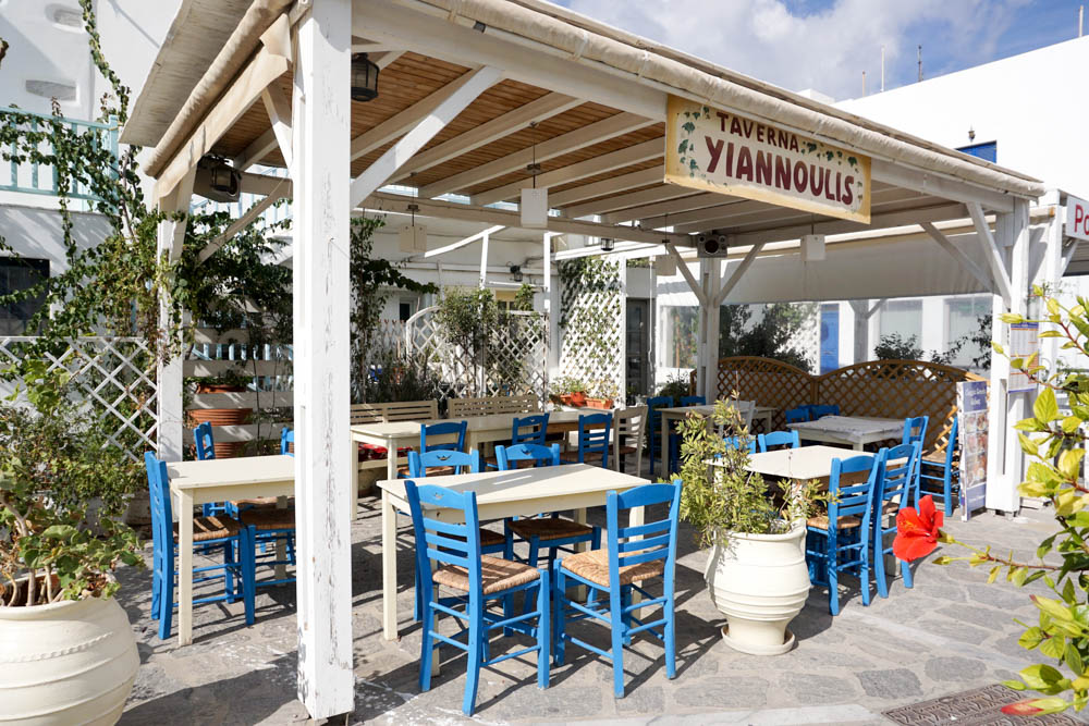 Typical restaurants in Parikia, Paros