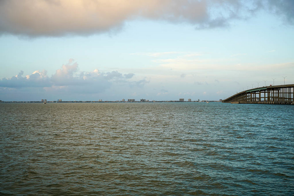 A view of South Padre Island from Port Isabel.