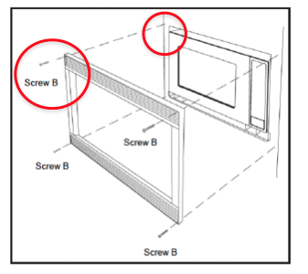 Notice How Another Manufacturer Uses Screws Thru The Face of Your Expensive Cabinets. (EuroTrim Does Not Use Screws Through the Face of the Cabinet.)