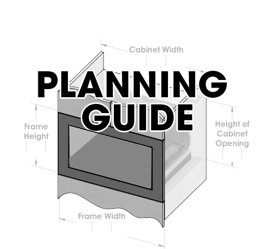 """Click Image Above for Planning Guide.     Overall Finished Dimensions: 26 7/8"""" W x 21 7/8"""" T x 7/8"""" D."""