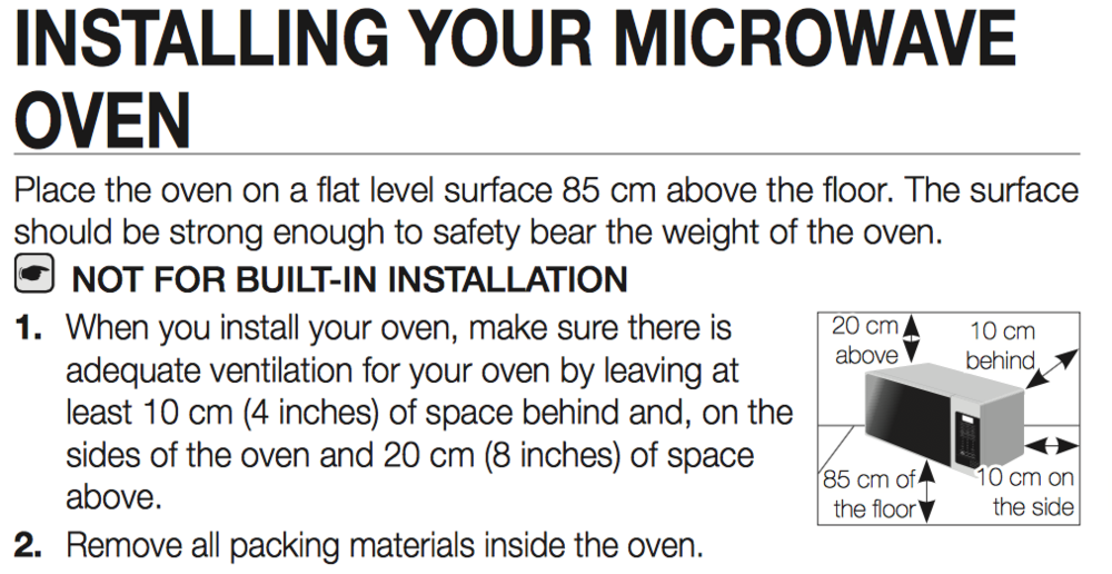 Install Instructions From Samsung Grill Microwave
