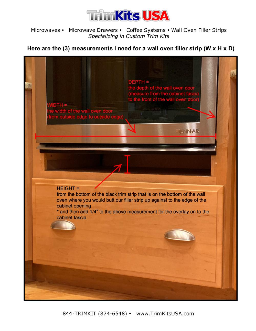 TKUSA Wall Oven Filler Strip Measurements on Letterhead.png