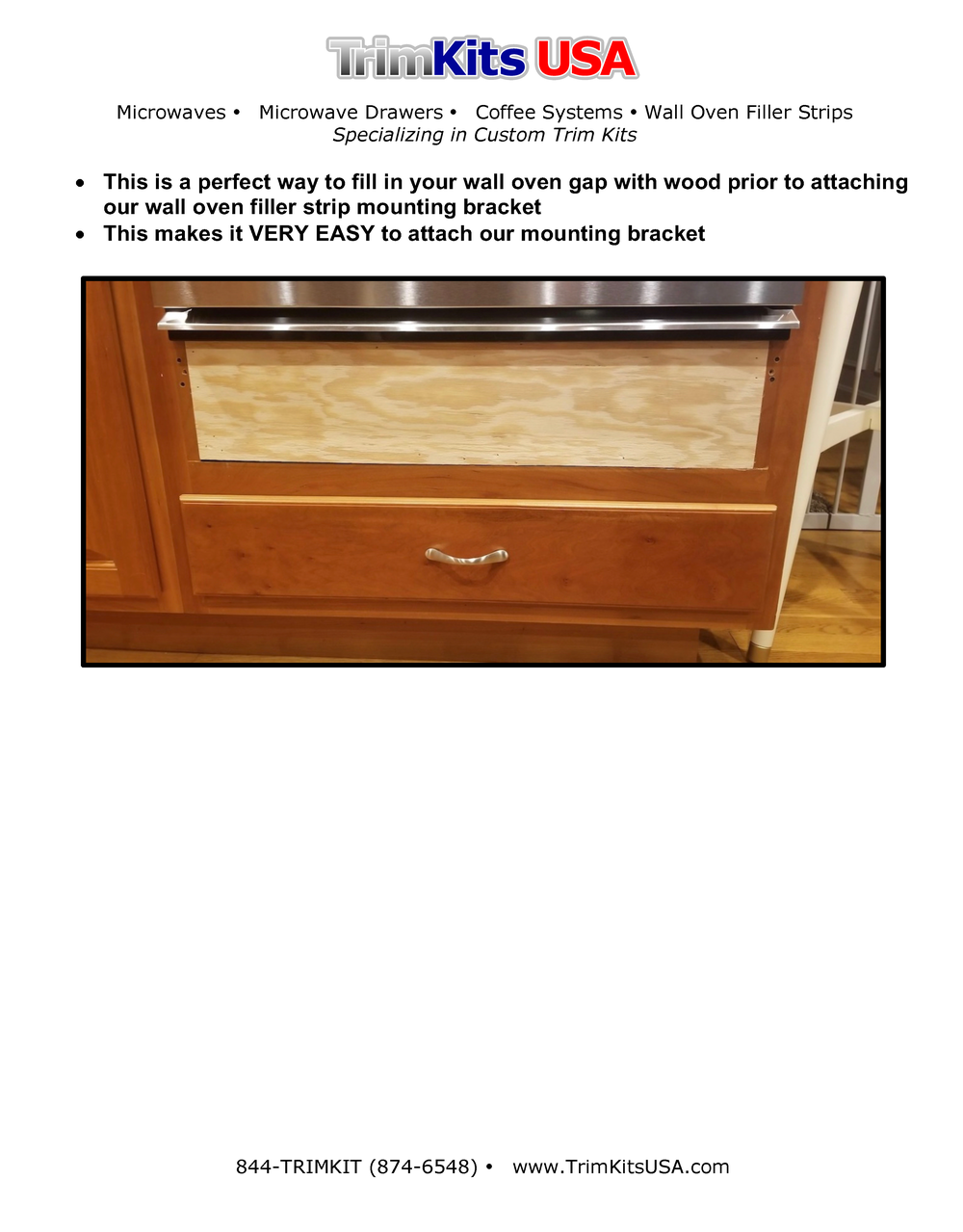 How to prepare for a wall oven filler strip.png