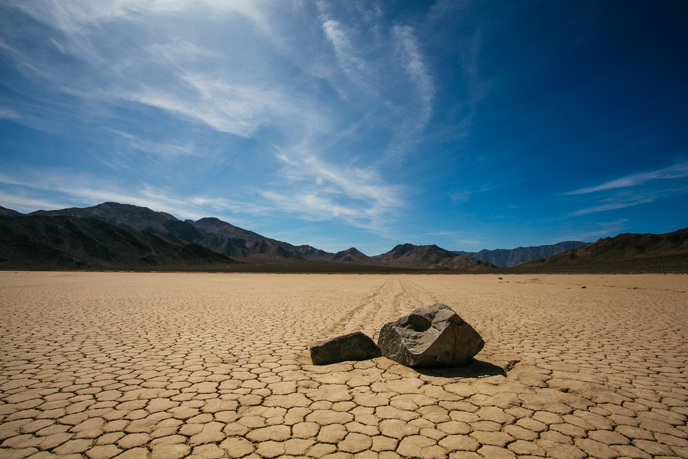 The mysterious sailing stones of Racetrack Playa.