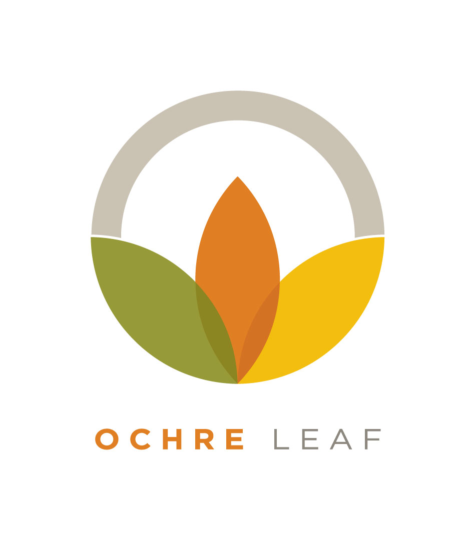 Ochre Leaf Logo   Branding and Identity created for Ochre Leaf tea. A tea company based in Orange County that sells affordable quality tea from Darjeeling.