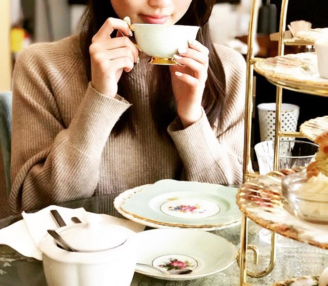 ~ Tea Time 101 with Soffee Cafe ~ . . . Book a reservation with us and get Fancy AF! . Repost @delia_ma0220