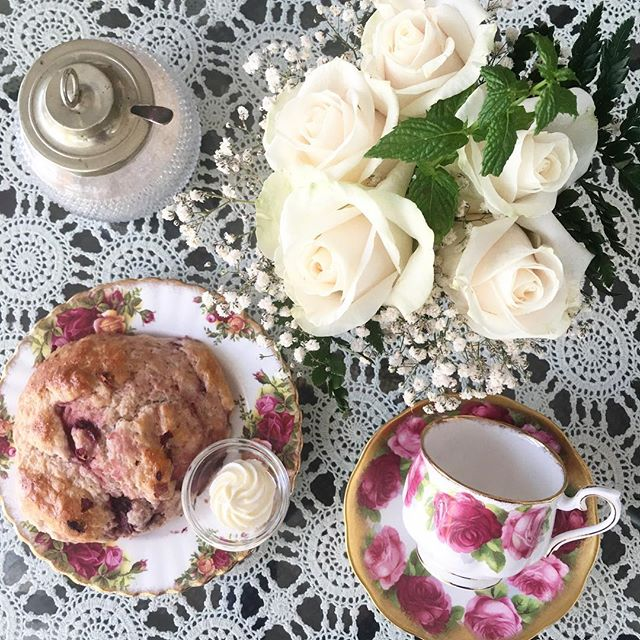 We're excited to introduce our new feature... . . . Strawberry Rosewater Scone 🌹🍓🌹