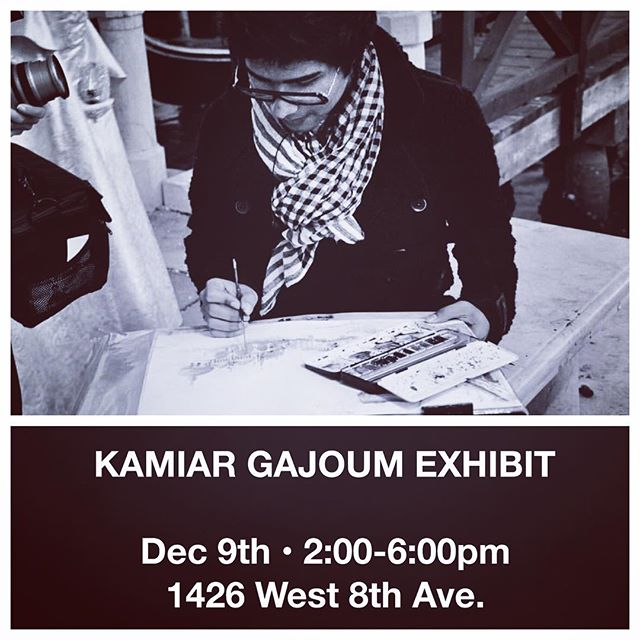 We welcome you to join us on December 9th from 2-6pm for an exclusive exhibition featuring @kamiargajoum