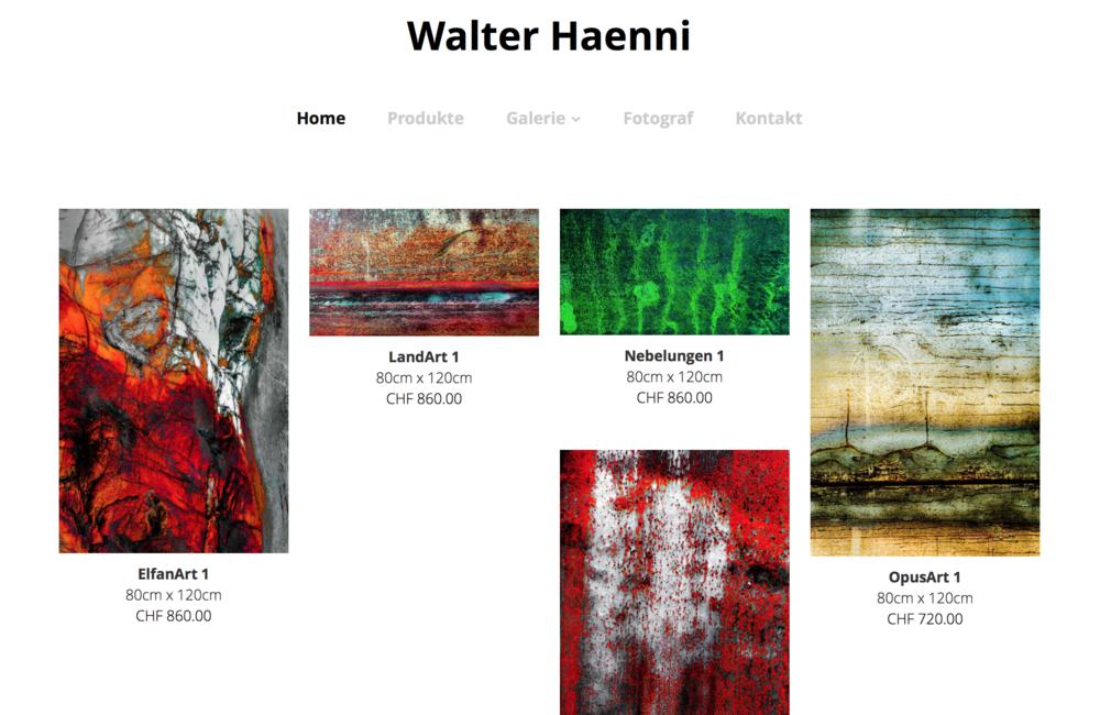 Walter Haenni - Der Fotograf aus Zürich.Lichtbilder für Ihr Zuhause.
