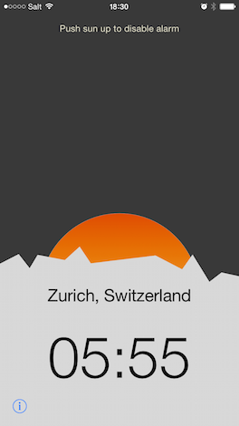Sunrise Alarm Clock - Die App, die dich zum Sonnenaufgang weckt.
