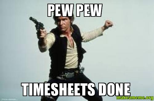 Pew Pew Timesheets Done