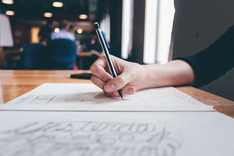 Hand drawing storyboard