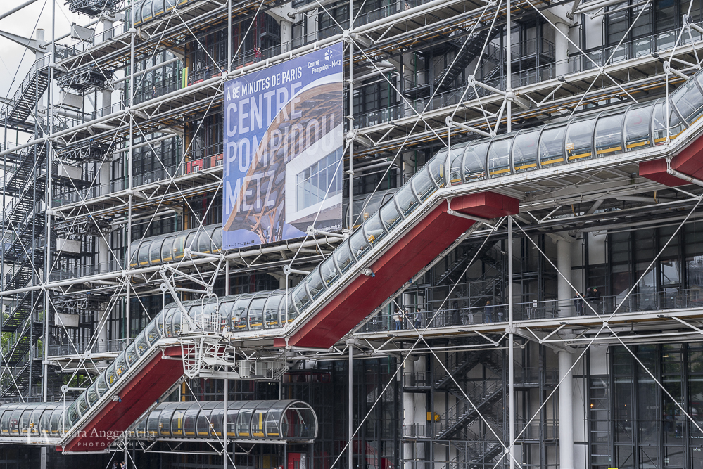 A view of the Pompidou Centre.