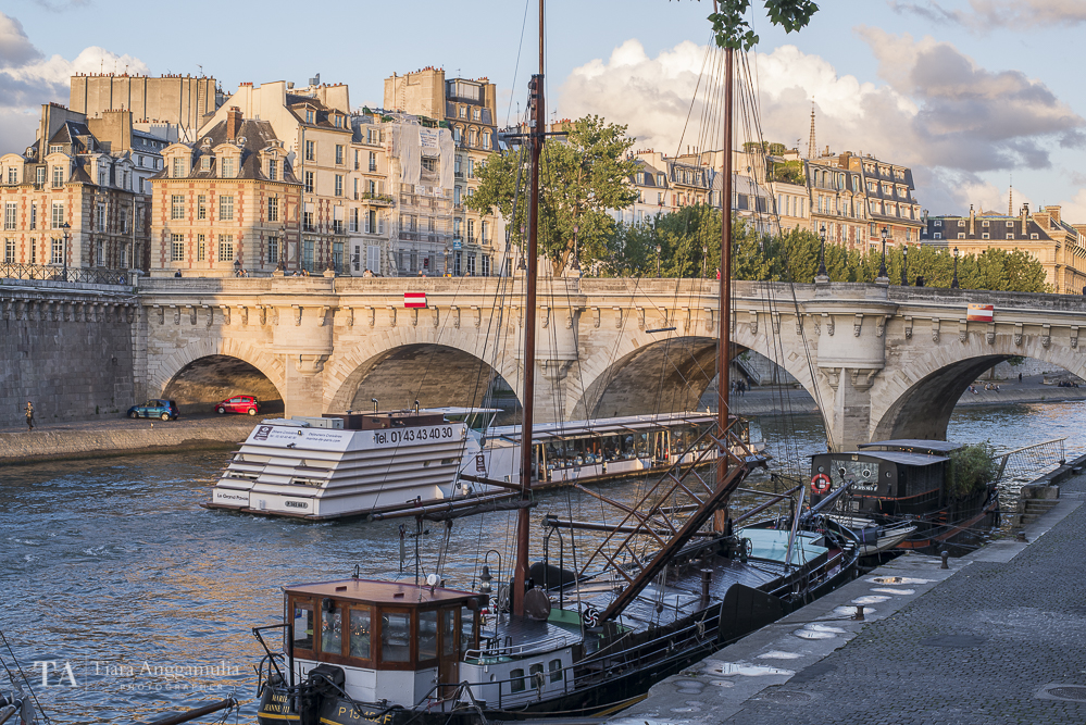 A view towards river Seine.