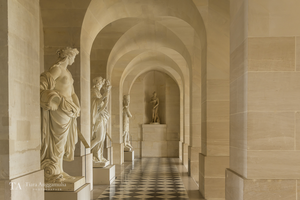 Interior of Palace of Versailles.