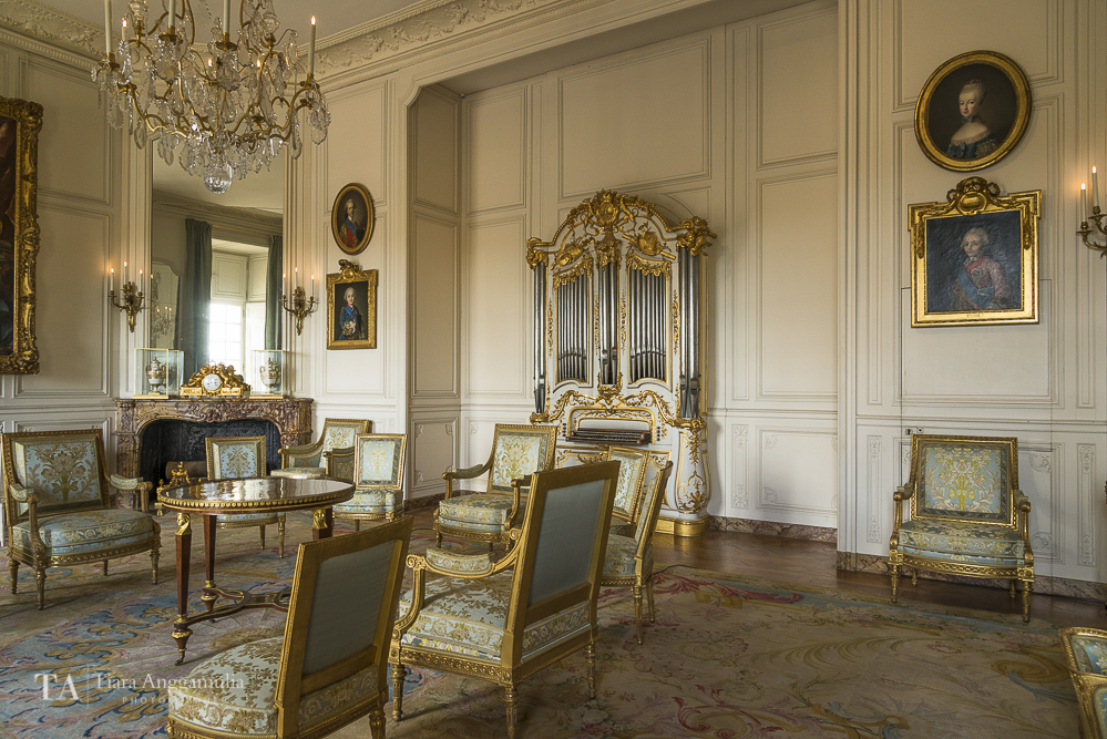Interior of the grand apartment in Versailles.