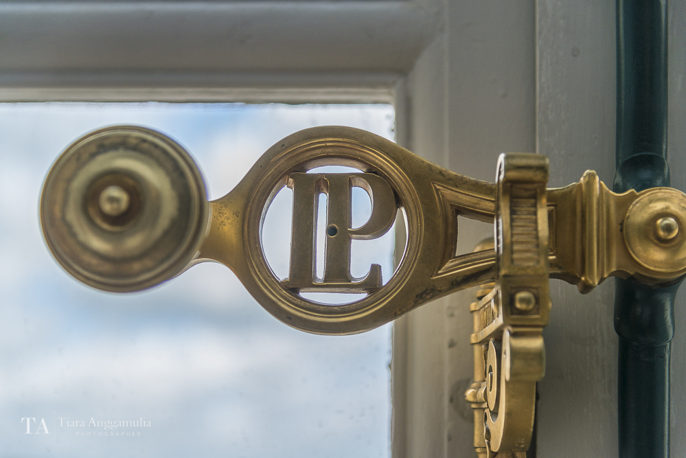 LP initial on the window lock in Versailles.
