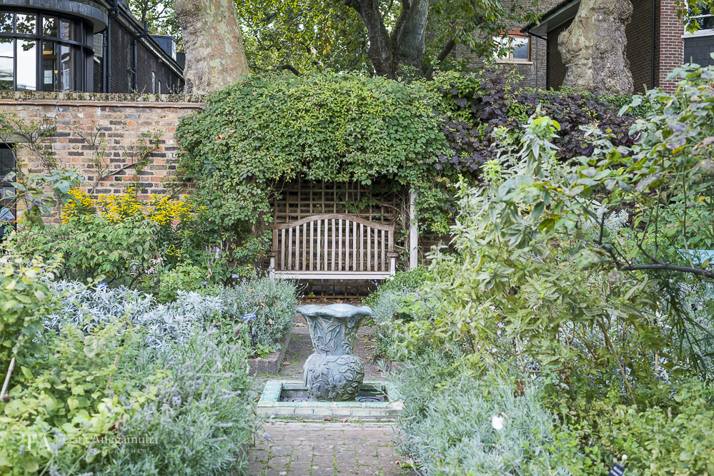 The herb garden of Geffrye Museum.