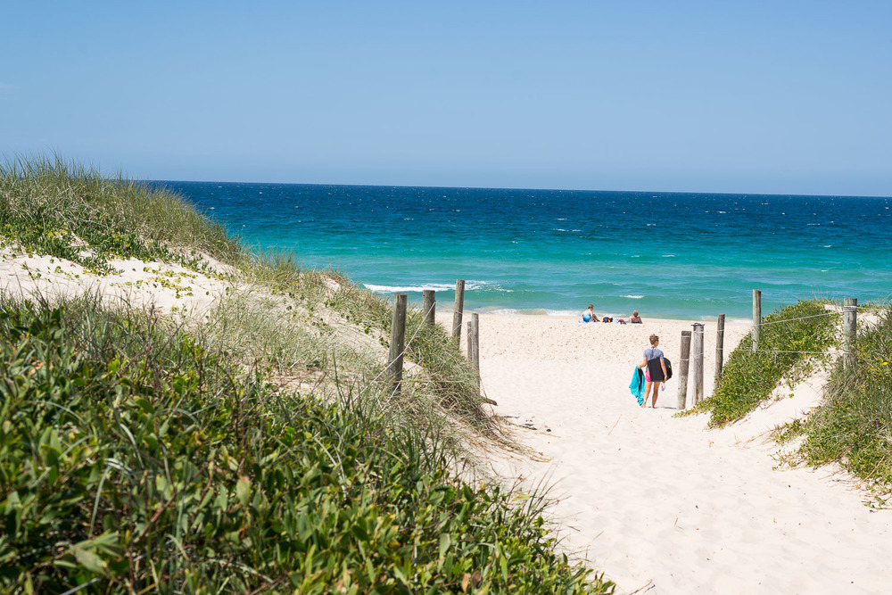 A beautiful view towards Bennetts Beach.