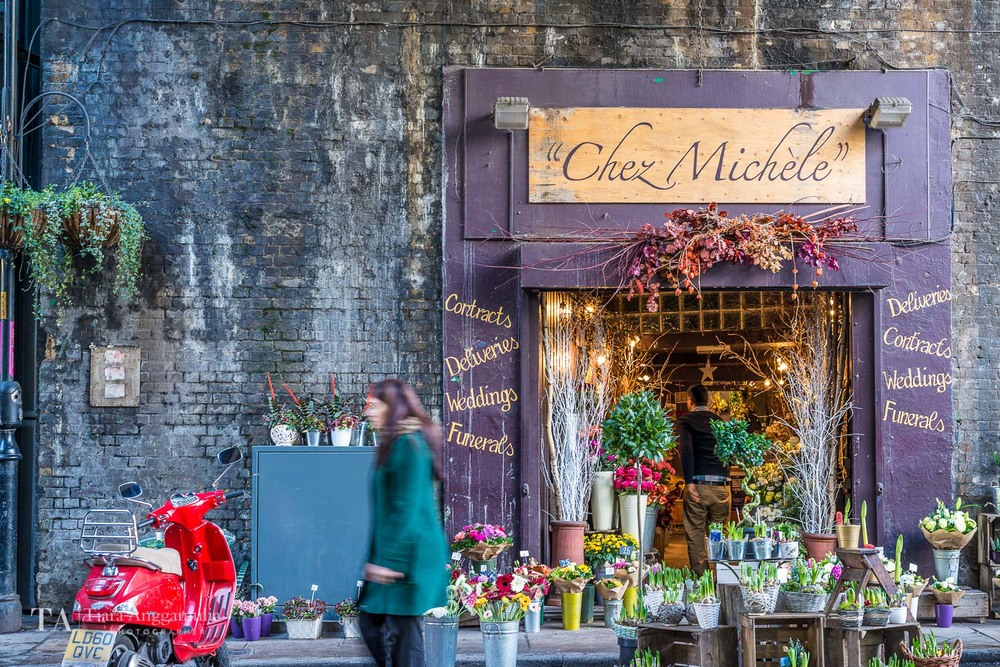 Chez Michele florist in Borough Market.