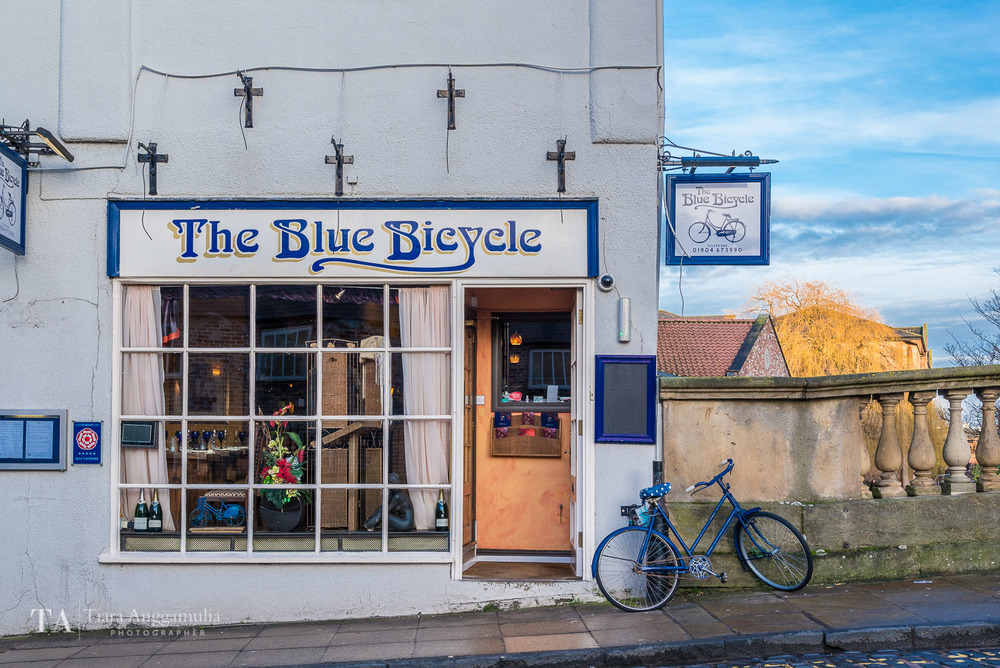 The Blue Bicycle Restaurant on Fossgate.