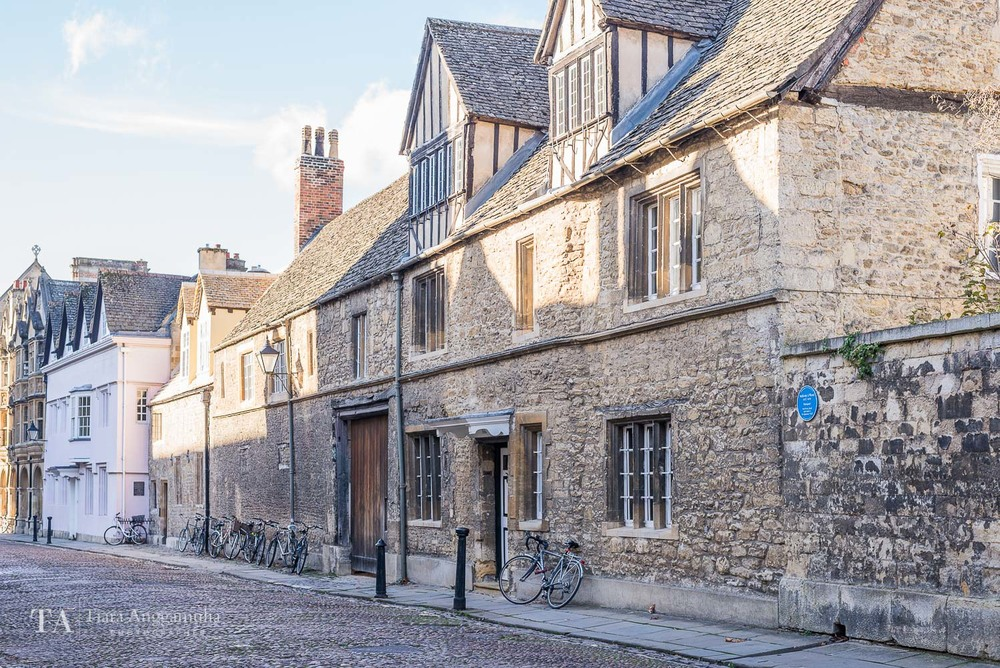 The medieval street in Oxford.