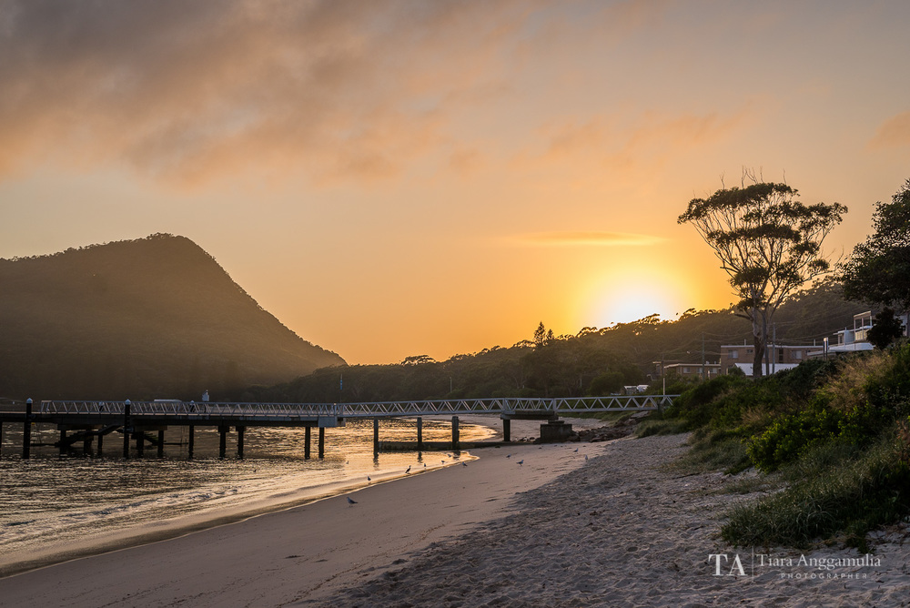 Sunrise at Shoal Bay.
