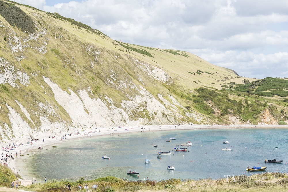 A view towards Lulworth Cove.