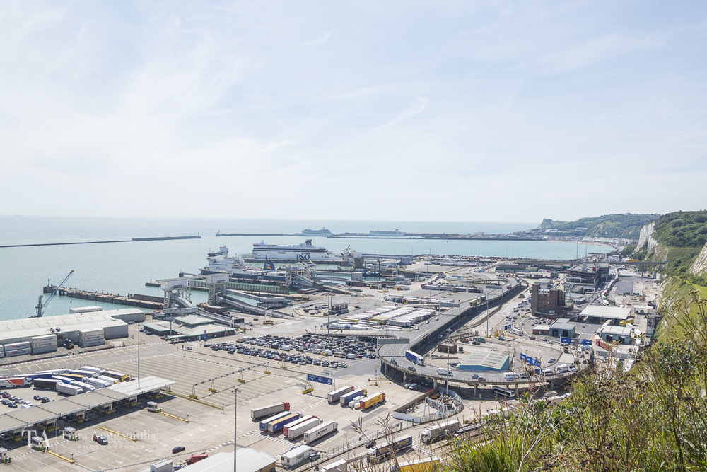 The busy port of Dover.