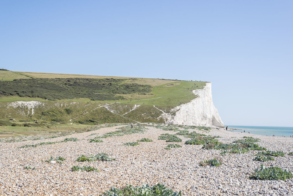 The pebble beach at Cuckmere Haven.