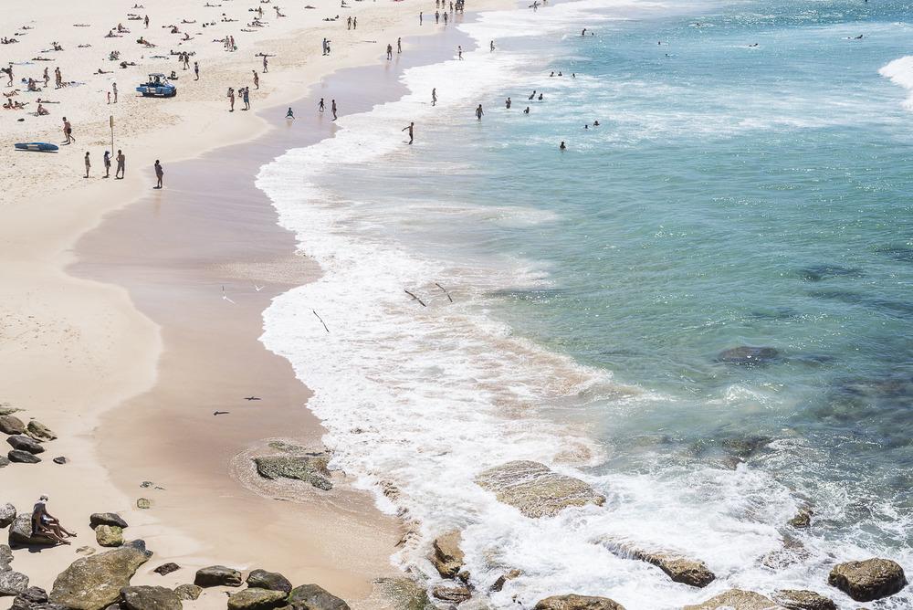People on Bondi Beach.