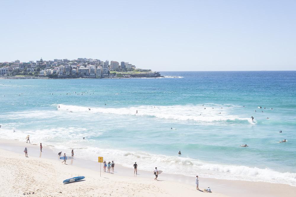 A view towards Bondi Beach.
