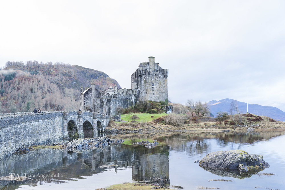 A view towards Eilean Donan Castle.
