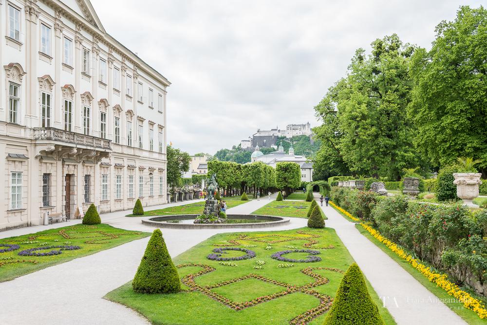 A view towards the Mirabell Garden.