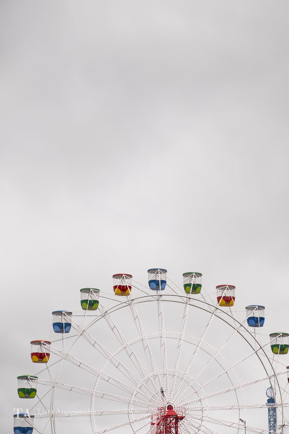 The ferris wheel at Luna Park.