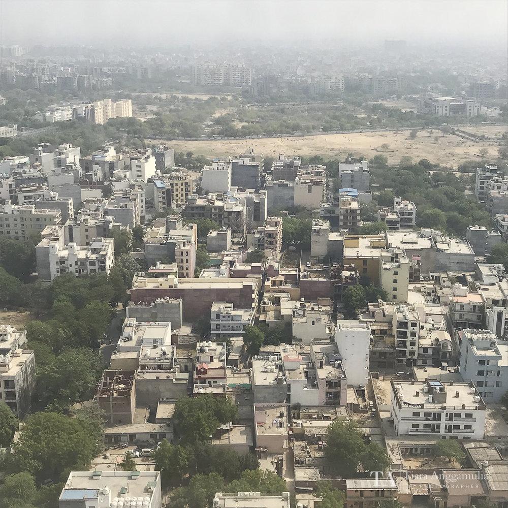 The cityscape of Delhi.