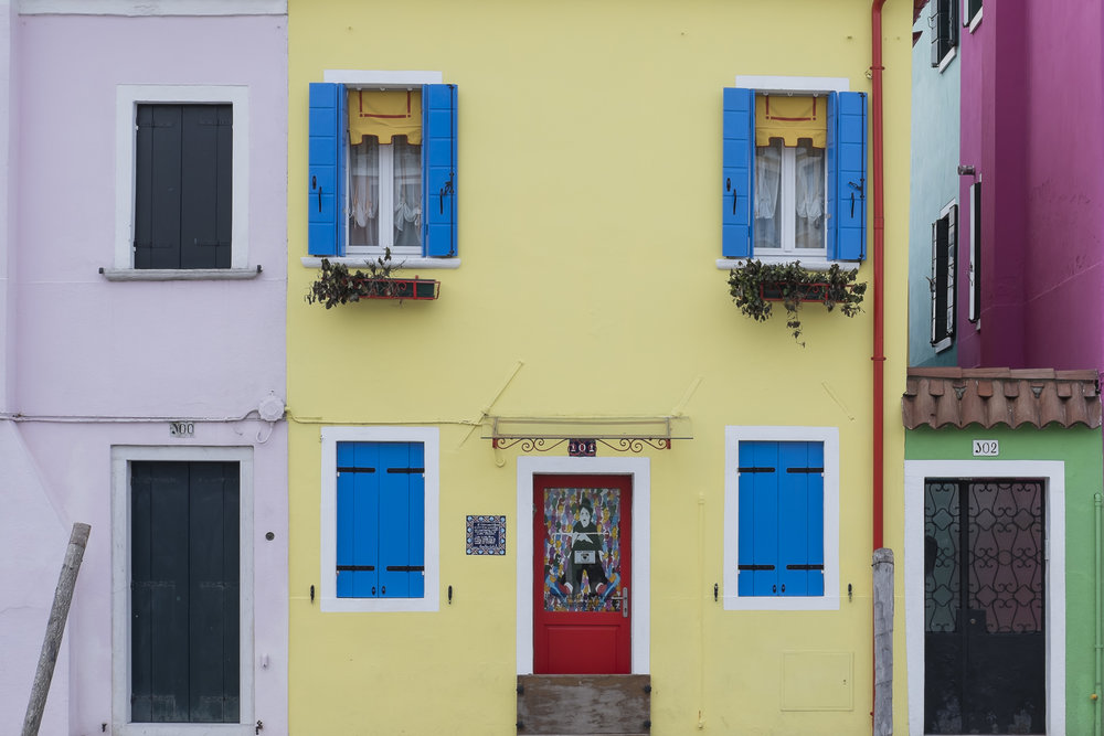 The colourful houses on Burano Island.